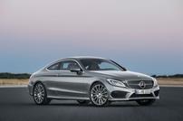 Příčníky Mercedes-Benz C-klasse Coupe 16- s pevnými body Alu tyče
